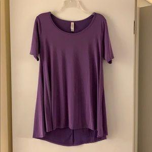 Solid purple Lularoe perfect t